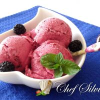 Sorbetto yogurt e frutti di bosco