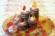 Dolci candele al cioccolato