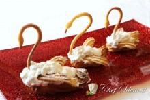 Cigni di pasta bignè