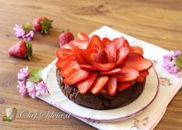 Crostata al cioccolato e fragole