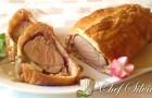 Filetto in crosta di pane con crema di porcini