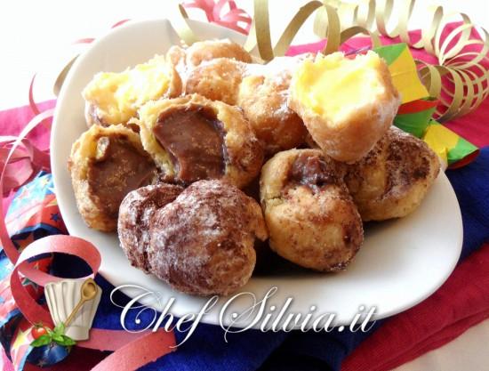 Frittelle di Carnevale crema e cioccolato
