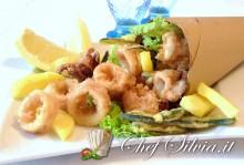 Frittura di calamari e verdure