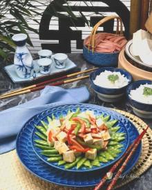 Insalata di tofu e verdure