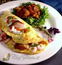 Omelette ai gamberi
