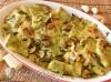 Paccheri  gratinati al pesto e zucchine
