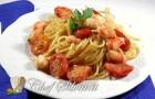 Spaghetti alla bottarga e gamberi