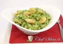 Risotto spinaci e gamberi