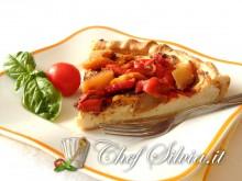 Torta ricotta, patate e peperoni
