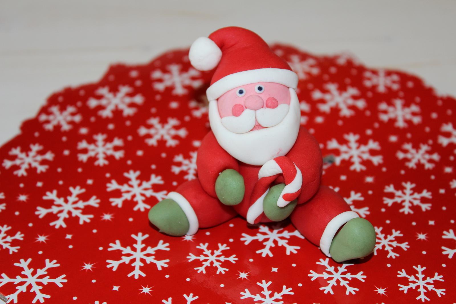 Cake Design Tutorial Babbo Natale In Pasta Di Zucchero