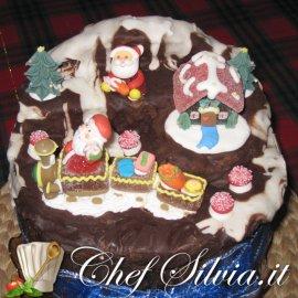 Il panettone decorato da  Chef Silvia