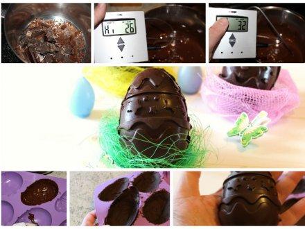 Pasqua fai da te: Uovo di cioccolato fatto in casa