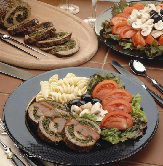 Arrosto ripieno di spinaci e castagne