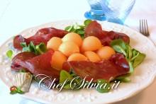 Carpaccio di bresaola e melone