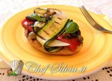 Bruschetta con verdure grigliate