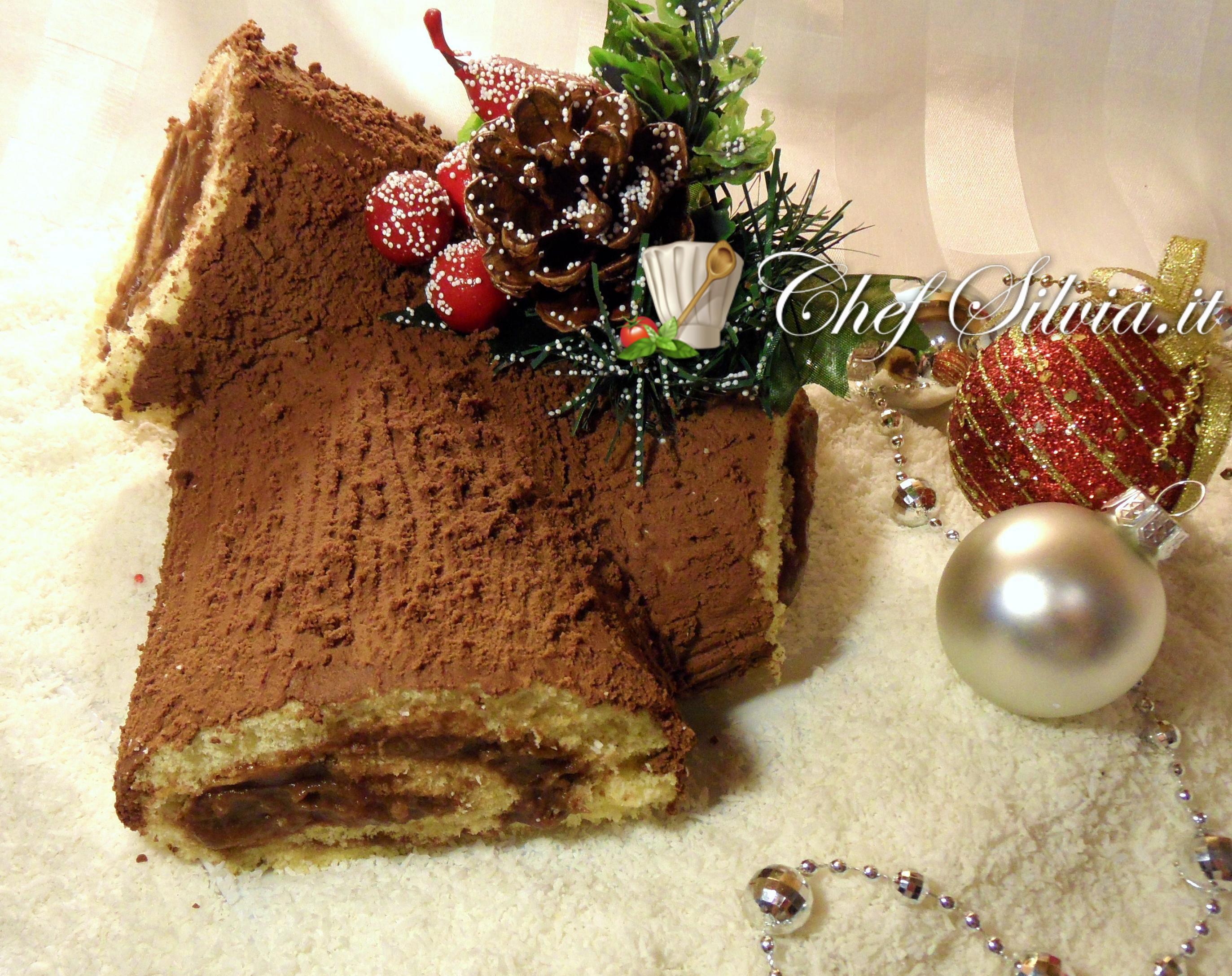 Come Decorare Un Tronchetto Di Natale.Tronchetto Di Natale Buche De Noel