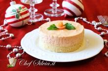 Cheesecake salato al salmone e polpa di granchio