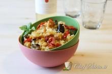 Couscous con tacchino e verdure grigliate
