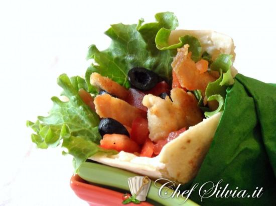 Fajitas di pollo e verdure