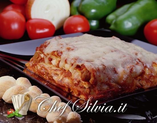 Lasagne ai peperoni e salsiccia