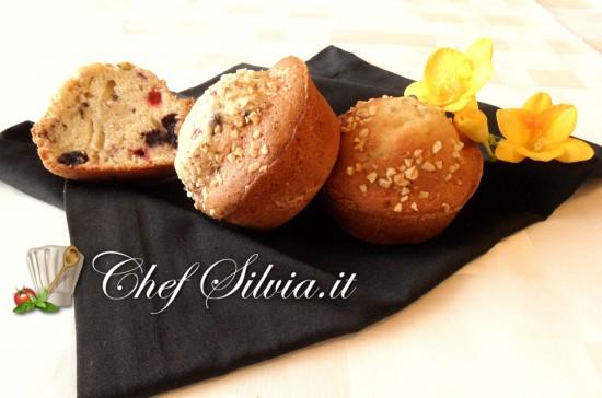 Muffin ai frutti di bosco e mandorle