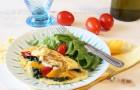 Omelette con verdure e burrata