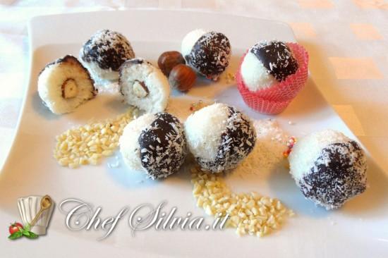 Praline al cocco e cioccolato