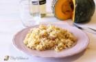 Risotto zucca, gorgonzola e speck