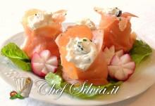 involtini di salmone e gamberetti