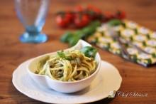 Spaghetti al pesto di fagiolini