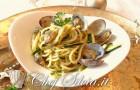 Spaghetti alle vongole e pesto di pistacchi