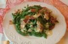 Spätzle di spinaci con panna e speck