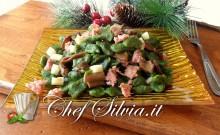 Spatzle di spinaci con porcini, provola e salsiccia