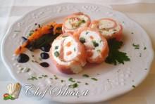 Spirali di salmone affumicato