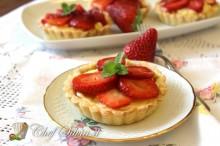 Tartelle alla frutta con gelatina di Brachetto