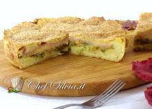 Torta di patate, provola e zucchine