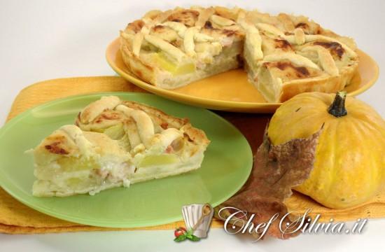 Torta salata di finocchi e patate