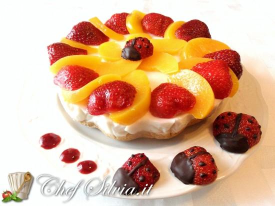 Torta fredda allo yogurt e frutta