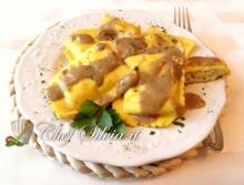 Ravioli di patate con crema di funghi porcini