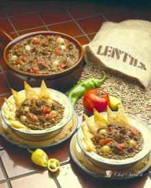 Zuppa di lenticchie e chorizo